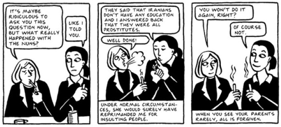 the iranian culture and conflicts in satrapis persepolis Bearers of culture : bearers of culture: images of veiling in marjane satrapi\ the study of veiling as represented in marjane satrapi's memoir, persepolis.